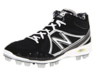 New Balance MB2000 TPU Molded Mid Cut Cleat Black, Silver Shoes