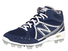 New Balance MB2000 TPU Molded Mid Cut Cleat Blue, White Shoes