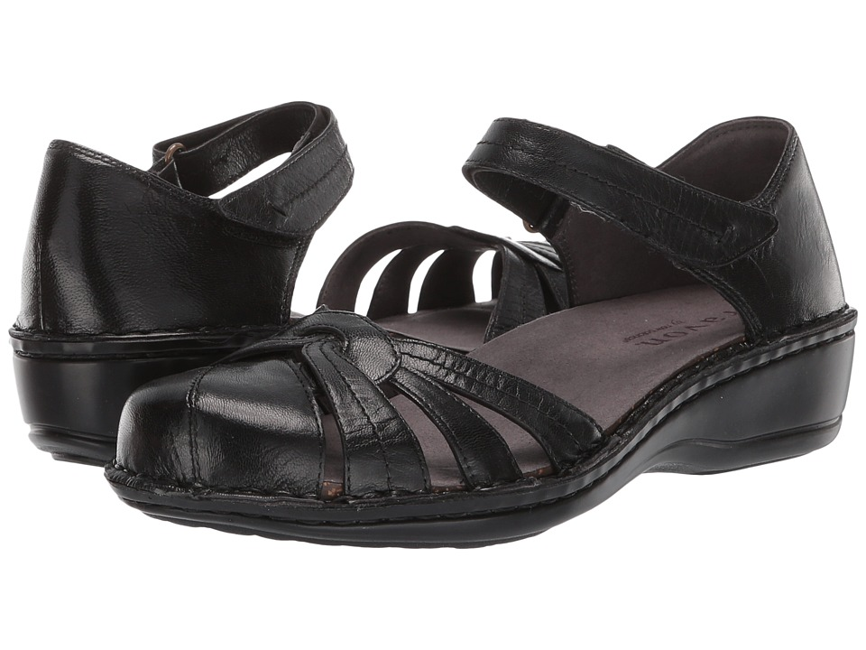 Aravon Clarissa (Black Leather) Women's Shoes