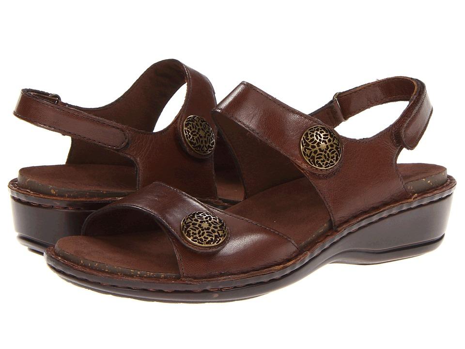 Aravon Candace Brown Womens Sandals