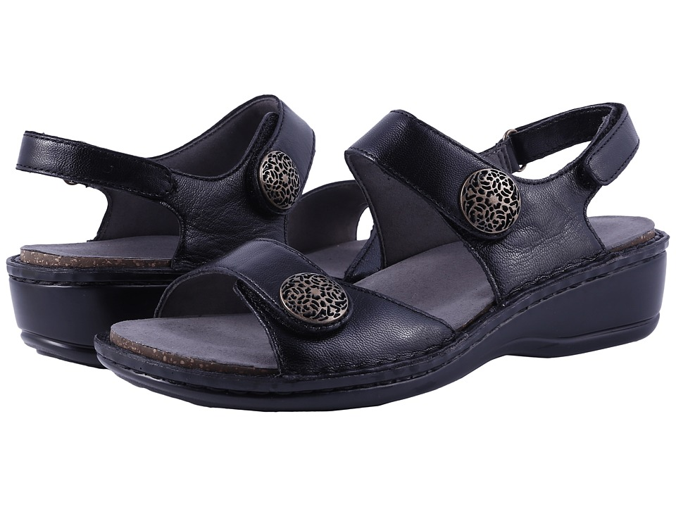 Aravon Candace (Black) Women's Sandals, Footwear, wide width womens sandals, wide fitting sandal, cute, WW