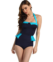Marc by Marc Jacobs - Color Blocked Solids Peplum Maillot