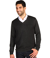 Perry Ellis - L/S Merino Blend V-Neck Double Sweater