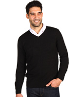 Perry Ellis - L/S V-Neck Ribbed Sweater