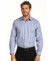 Perry Ellis - Classic Fit Textured Satin Stripe L/S Shirt