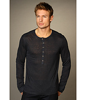 John Varvatos Collection - Linen Jersey L/S Henley