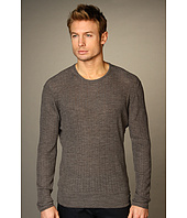 John Varvatos Collection - Surface Printed Variegated Rib Sweater