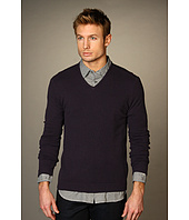 John Varvatos Collection - Cashmere V-Neck Sweater w/ Elbow Patches