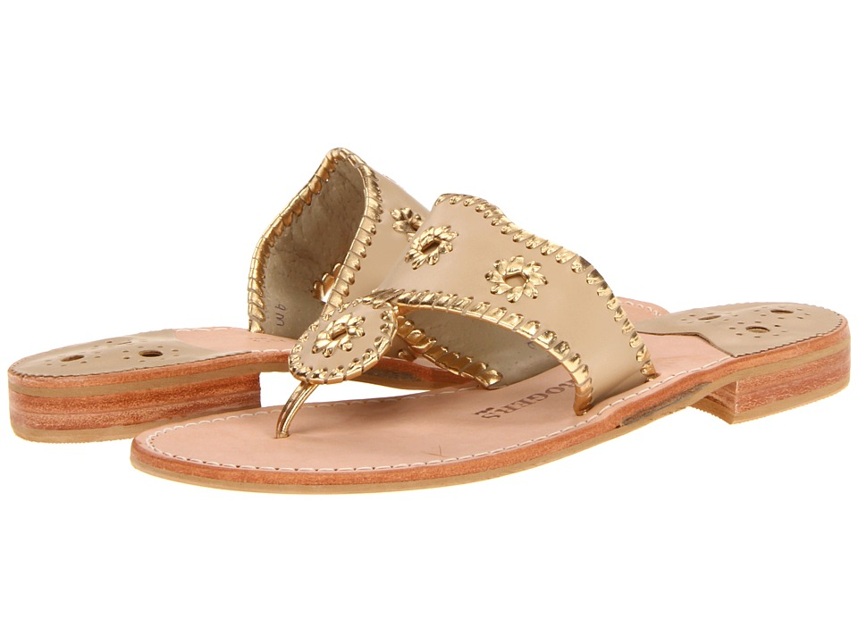 Jack Rogers - Nantucket Gold (Baby Camel Gold) Womens Sandals