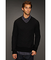 John Varvatos Collection - Decorative Stitch Silk Cotton Pullover