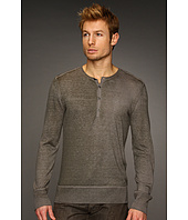 John Varvatos Collection - Reverse Printed Silk Cashmere Henley