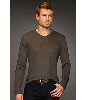 John Varvatos Collection - Long Sleeve Linen V-Neck