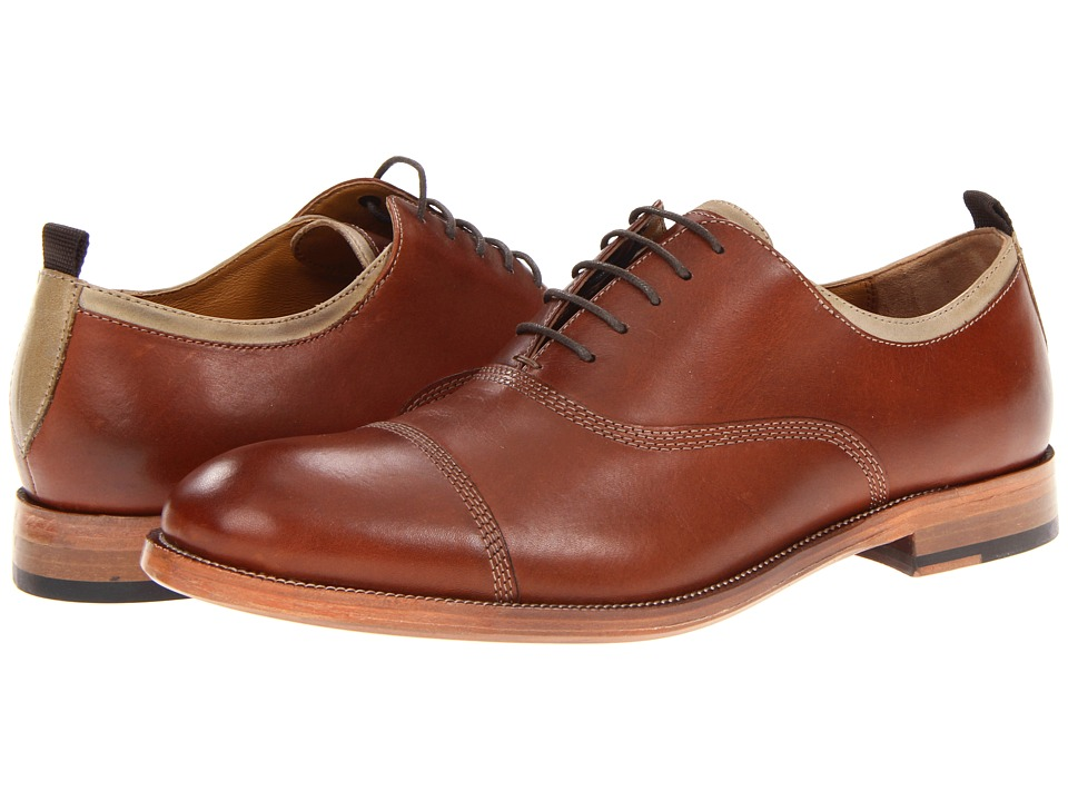 Johnston amp Murphy Clayton Cap Toe Mahogany Calfskin Mens Lace Up Cap Toe Shoes