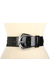 Cheap Lauren Ralph Lauren 2 Stretch Belt With Patent Tabs And Londonderry Buckle Black Black