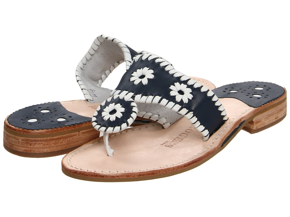 Jack Rogers Palm Beach (Navy/White) Sandals