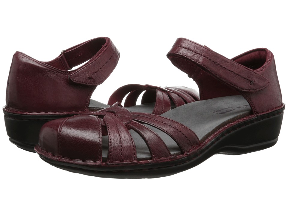 Aravon Clarissa Red Leather Womens Shoes