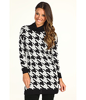 C&C California - Houndstooth Funnel Neck Tunic Sweater
