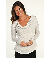 C&C California - Tweed Lurex® Drape Neck Top