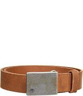 Timberland - Distressed Leather Belt with Plaque Buckle