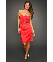 Calvin Klein - Satin Dress w/ Pleated Surplice Bodice