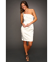 Calvin Klein - Ruched Satin Dress with Bead Embellishments
