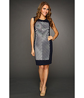 Calvin Klein - Chevron-Striped Sheath Dress