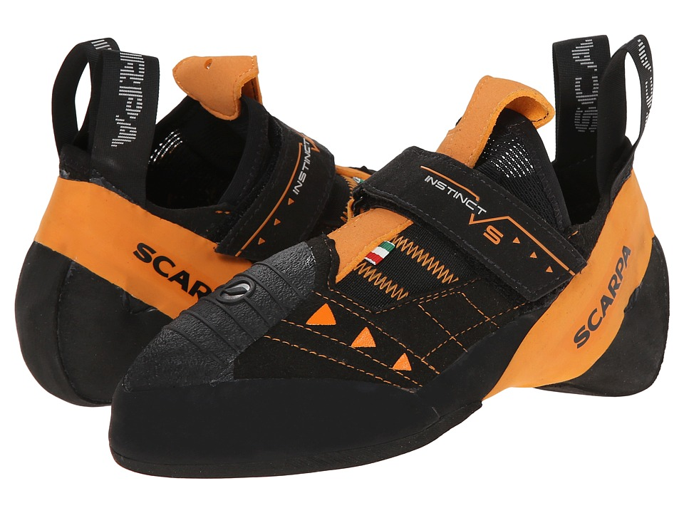 Scarpa Instinct VS Black/Orange Athletic Shoes