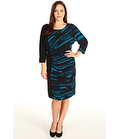 Calvin Klein - Plus Size Color Blocked Dress