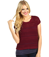 Kensie - Crochet Crop Sweater