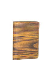 Jack Spade - Woodgrain Printed Leather Vertical Flap Wallet