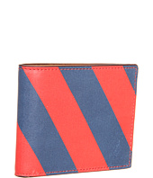 Jack Spade - Repp Stripe Printed Leather Bill Holder