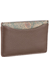 Jack Spade - Paisley Printed Leather Credit Card Holder