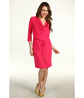 Jessica Howard - Drape Neck Blouson Dress w/Spaghetti Sash