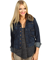 Lucky Brand - Faux Fur Collar Denim Jacket