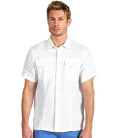 Michael Kors - Short Sleeve Two Pocket Linen Shirt