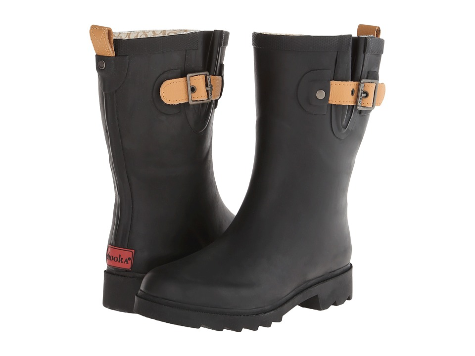 Chooka - Top Solid Mid Rain Boot (Black) Women