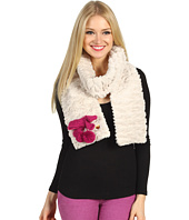 Betsey Johnson - Groovy Fur Tubular Muffler w/ Bow
