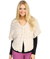 Betsey Johnson - Groovy Fur Snap Closure Caplet