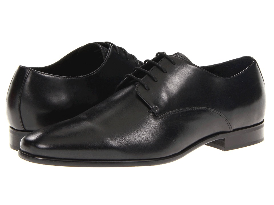 Gordon Rush Manning Black Calf Mens Dress Flat Shoes