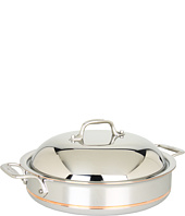 All-Clad - Copper-Core 3 Qt. Sauteuse Pan with Lid