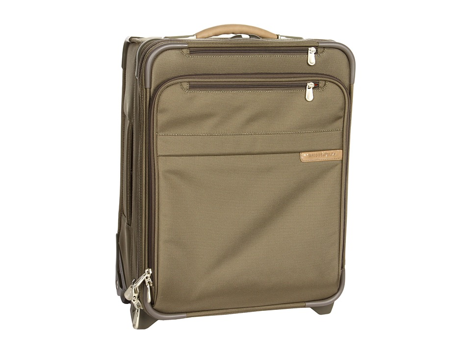 Briggs & Riley - Baseline - Commuter Expandable Upright (Olive) Carry on Luggage