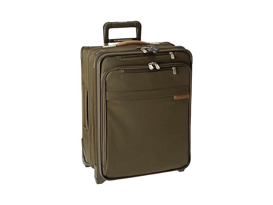 Briggs & Riley - Baseline International Carry-On Wide Body Upright (Olive) Carry on Luggage