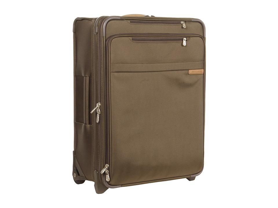 Briggs amp Riley Baseline Medium Expandable Upright Olive Luggage
