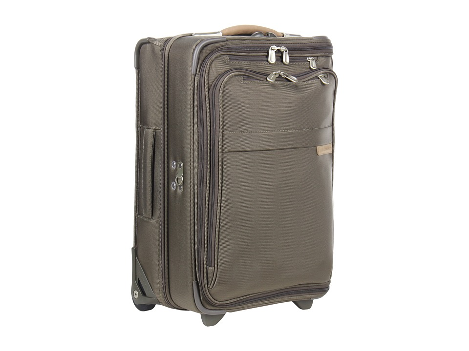 Briggs & Riley - Baseline - Domestic Carry-On Upright Garment Bag (Olive) Carry on Luggage