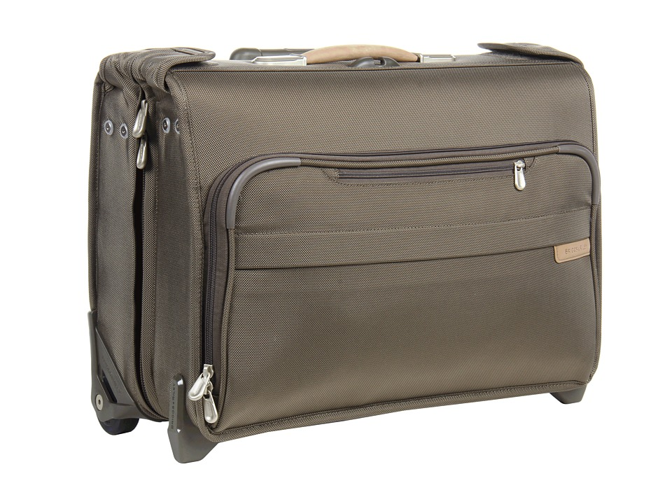 Briggs & Riley - Baseline Carry-On Wheeled Garment Bag 2 (Olive) Carry on Luggage