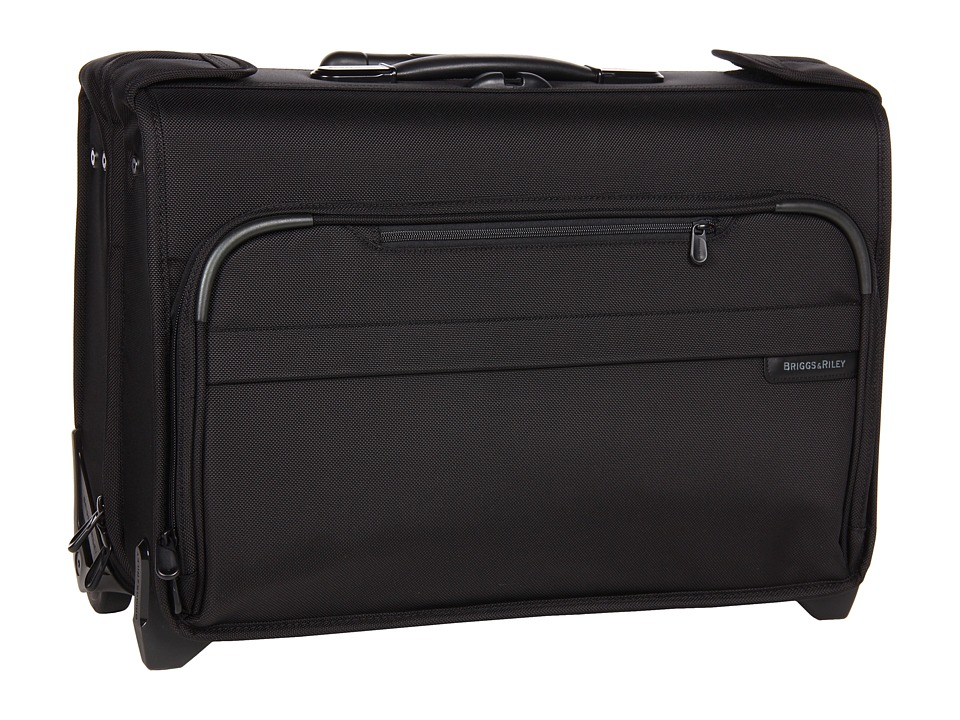 Briggs & Riley - Baseline Carry-On Wheeled Garment Bag 2 (Black) Carry on Luggage