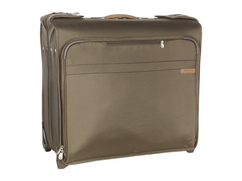 Briggs amp Riley Baseline Wheeled Wardrobe Olive Luggage
