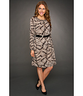 Anne Klein - Snakeskin Print Raglan Dress