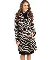 Anne Klein - Zebra Print Trench Coat