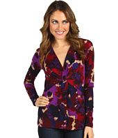 Anne Klein - Floral Print V-Neck Top